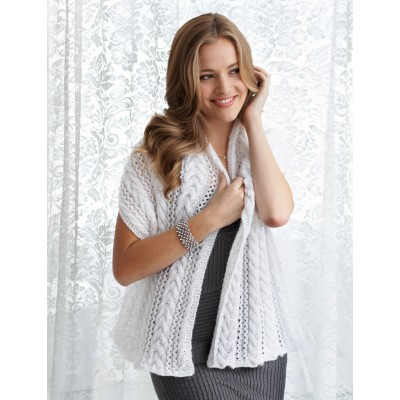 Patons Shawl - Lace and Cable Stitch Free