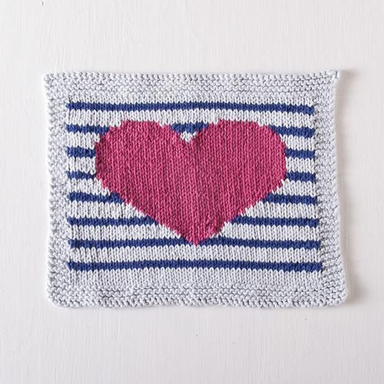 Perfectly Preppy Dishcloth Free Knitting Pattern