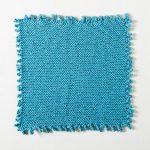 Picot Edge Dishcloth Free Knitting Pattern