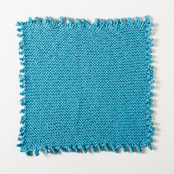 Picot Edge Dishcloth Free Knitting Pattern