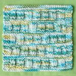 ROMAN ROWS One-Ounce Dishcloth Free Knitting Pattern