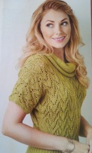 Ribbed Lace Top Free Knitting Pattern