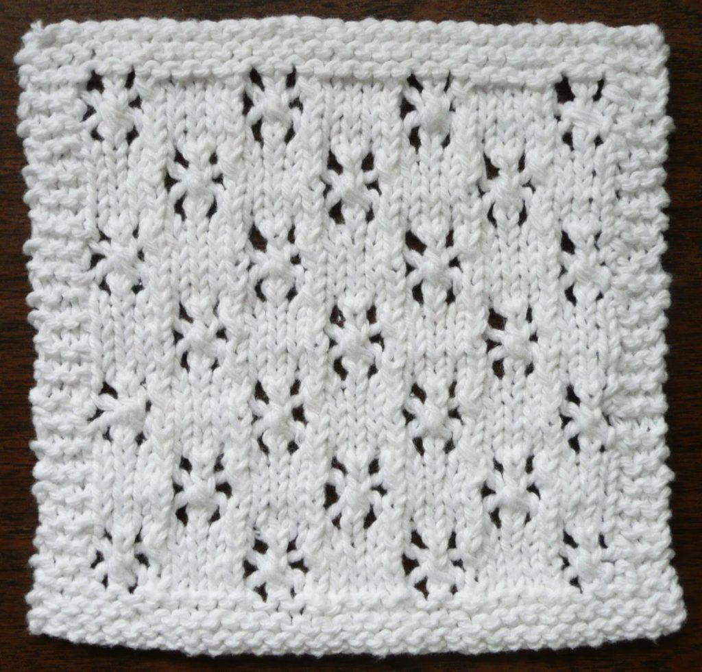 SNOWFALL One Ounce Dishcloth Free Knitting Pattern