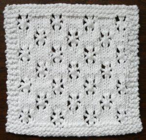 SNOWFALL One Ounce Dishcloth Free Knitting Pattern