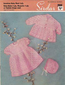 Sirdar 1950's Pram Set Free Vintage Baby Knitting Pattern