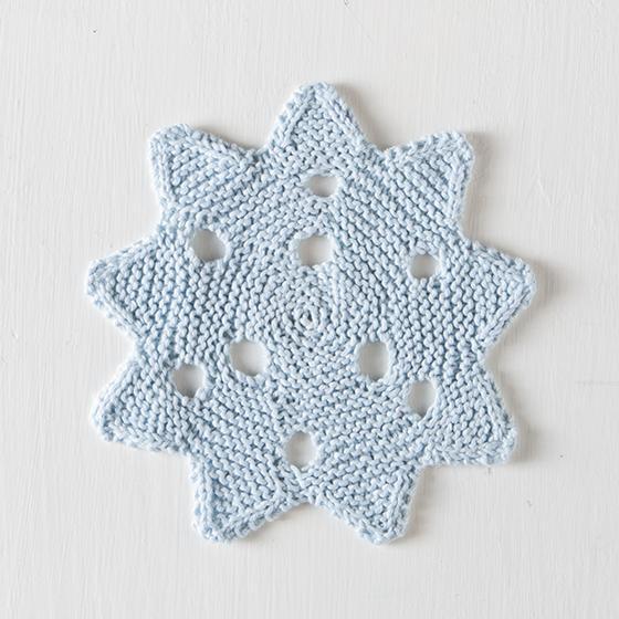 Snowflake Dishcloth Free Knitting Pattern