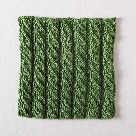 Spiral Columns Facecloth Free Knitting Pattern