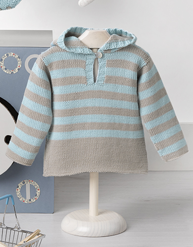 Baby Hoodie Knitting Pattern Free : Free free baby sweater knitting pattern with a hood Patterns ? Knitting Bee (...