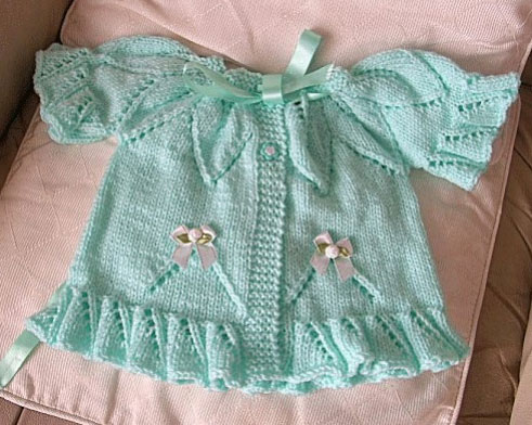 Summer Leaves Baby Cardigan