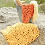Summer Squares Free garter Stitch Dishcloth Knitting Pattern