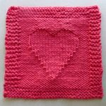 TEXTURED HEART One Ounce Dishcloth Free Knitting Pattern