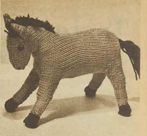 Vintage Horse Free Knitting Pattern