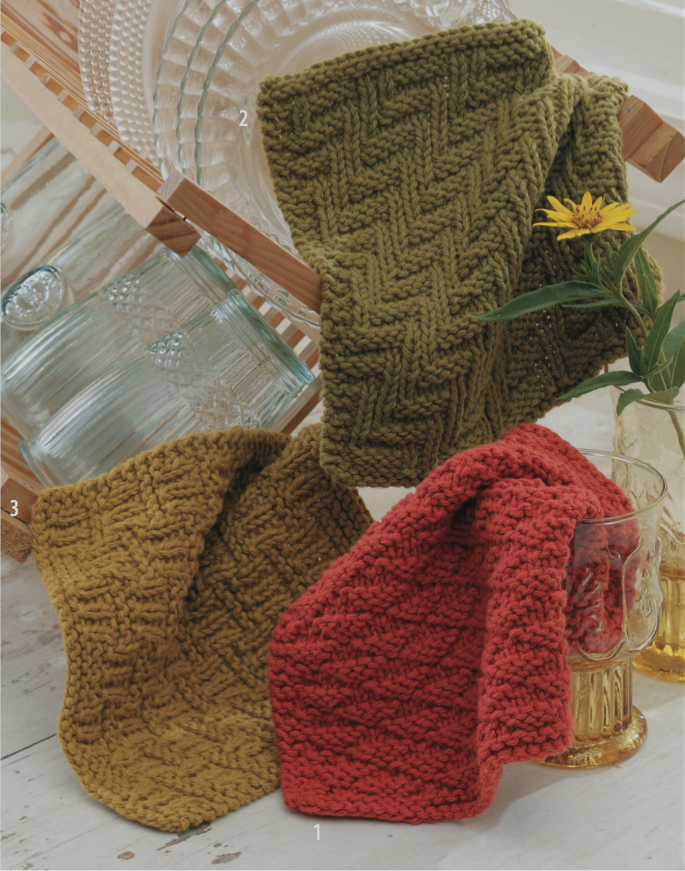 Three Knit Purl Dishcloth Free Knitting Pattern