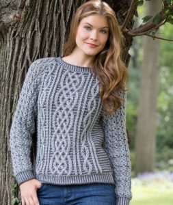 Two-Tone Cable Sweater Free Knitting Pattern