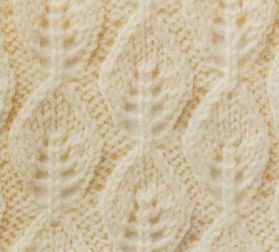 Vertical Leaf Lace Knit Stitch Knitting Bee