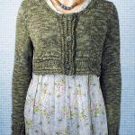Women's Crop Cardigan Free Knitting Pattern
