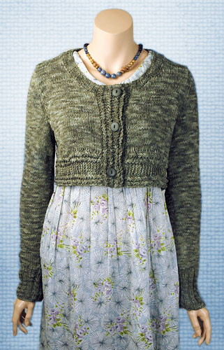 Women's Crop Cardigan Free Knitting Pattern