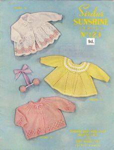 Sirdar Sunshine No.123 – Matinee Coats Free Vintage Baby Knitting Pattern