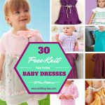 30 Free Knit Baby Dresses free patterns www.knitting-bee.com