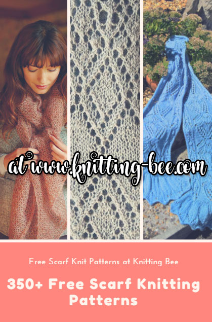 350 plus free scarf knitting patterns www.knitting-bee.com