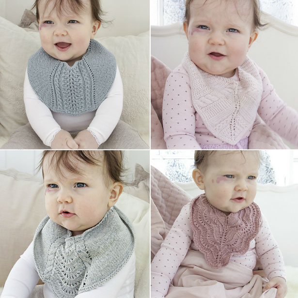 4 Free Knit Baby Bib Patterns