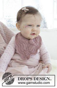 4 Free Knit Baby Bib Patterns gray