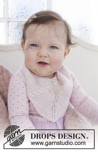 4 Free Knit Baby Bib Patterns pink
