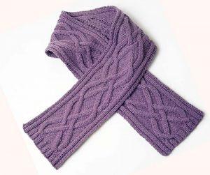 Aran Scarf Free Knitting Pattern