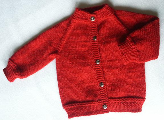 raglan baby cardigan knitting pattern