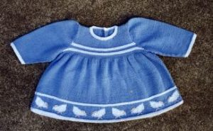 Baby Georgia Chick Dress Free Knitting Pattern