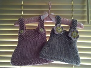 Babygirl Dress Free Knitting Pattern
