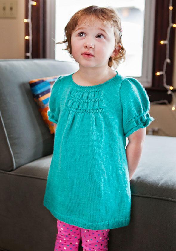 Free Intarsia Baby Dress Knitting Patterns Patterns Knitting Bee