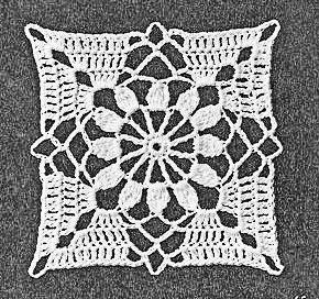 Cross Star Flower Crochet Pattern