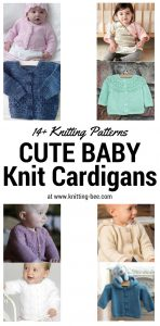 Cute Baby Knit Cardigans Knitting Patterns www.knitting-bee.com