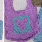 Cute knitted bibs free pattern