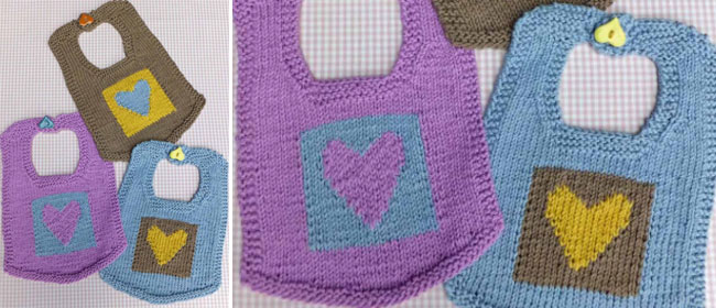 Cute knitted bibs free pattern