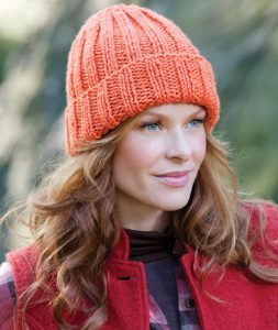Easy-Fit Ribbed Hat Free Knitting Pattern