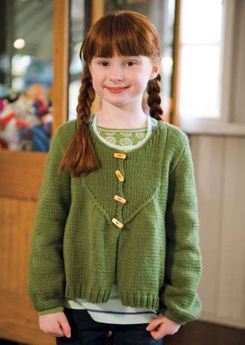 Ferris Girls Cardigan Free Knitting Pattern