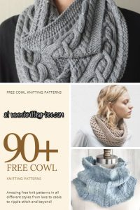 free cowl knitting patterns www.knitting-bee.com