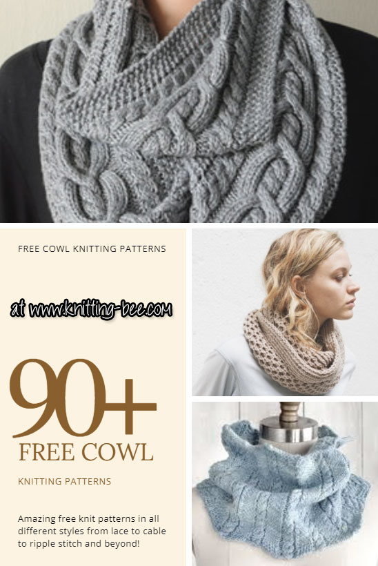 90+ Free Cowl Knitting Patterns You\'ll Love to Knit Up! (132 free ...