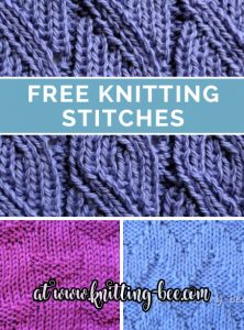 Free Knitting Stitches at www.knitting-bee.com