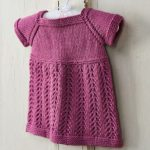 Girl's knitted pinafore dress free knitting pattern