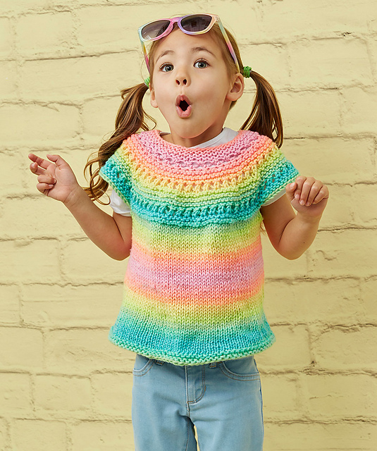 Girl Time Tunic Free Knitting Pattern