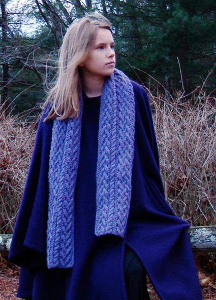 Gwynedd Scarf Free Aran Knitting Pattern