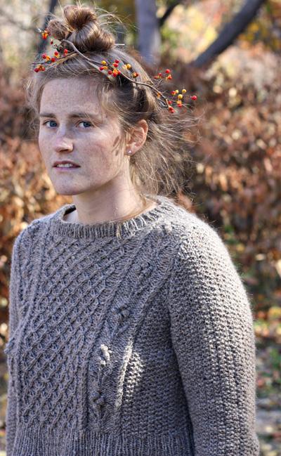 Helga Sweater Free Aran Knitting Pattern