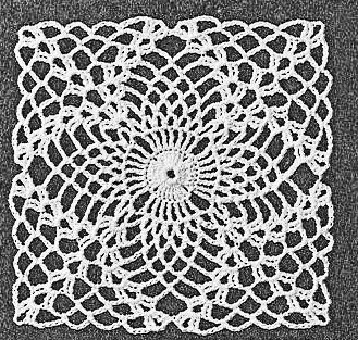 Hibiscus Lace Crochet Square Diagram