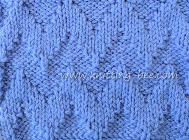 Knit Purl Chevron Free Knitting Stitch by www.knitting-bee.com