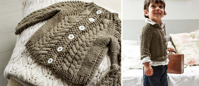 Knit A Toddlers Cabled Cardigan Free Knitting Pattern Knitting Bee