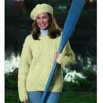 Knitted Aran Sweater Free Knitting Pattern
