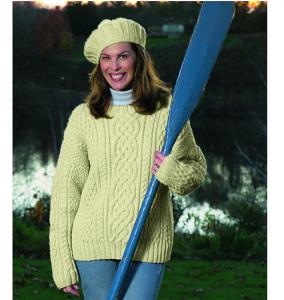 Knitted Aran Sweater Free Knitting Pattern